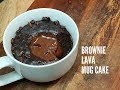 BROWNIE LAVA MUG CAKE (VEGAN) - CookingwithKarma
