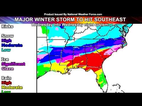 Major Southeast United States Winter Storm February 25, 2015