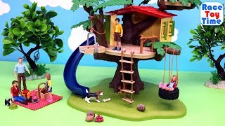 Schleich Farm World Treehouse Playset and Fun Animals Toys For Kids - Learn Animal Names