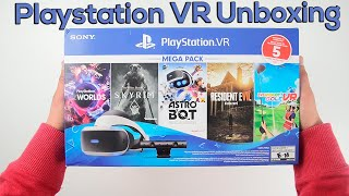 Unboxing Playstation VR Mega Pack Bundle With 5 Games