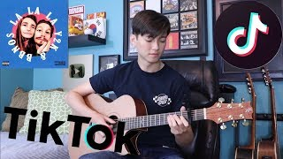 Tik Tok cover song #1 - bbno$ & y2k - lalala (fingerstyle guitar)