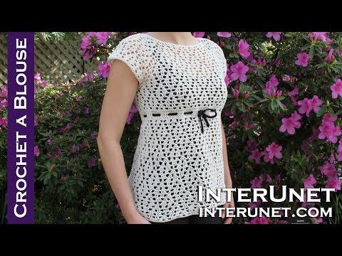 Crochet A Raglan Sleeve Blouse - Women's Dress Shirt Crochet Pattern video