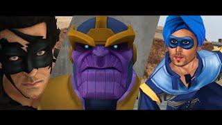 Krrish vs Thanos vs Flying Jatt animated | Bollywood heroes vs Hollywood villain