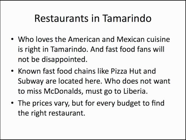Tamarindo Costa Rica Restaurants | (506) 8718-3271