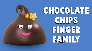 The Finger Family Chocolate Chips Family Nursery Rhyme | Chocolate Chips Finger Family Songs