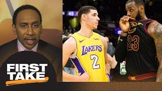 Download Stephen A. speculates what LeBron James told Lonzo Ball after Lakers-Cavaliers | First Take | ESPN 3Gp Mp4