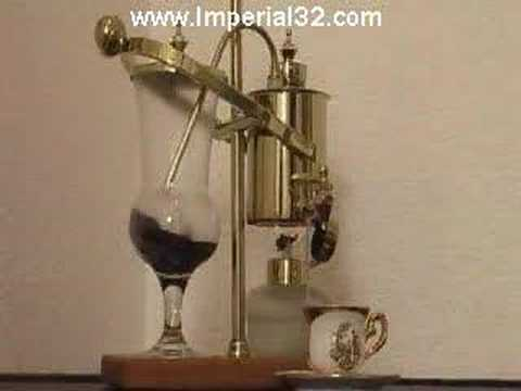 Gold Balancing Vacuum Espresso Coffee Machine