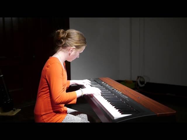 Melina (11) plays Carulli's Vivace on piano - winter recital 2014