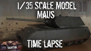 Maus 1/35 Scale Model Build & Detailing (Time Lapse)