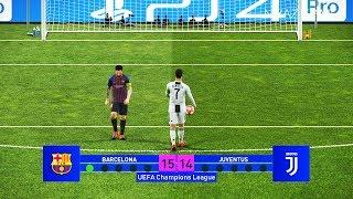 Barcelona vs Juventus   Final UEFA Champions League - UCL   Penalty Shootout   PES 2019