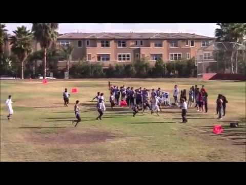 San Diego Academy Cavaliers (13) vs LLA Roadrunners (27) 9-9-14