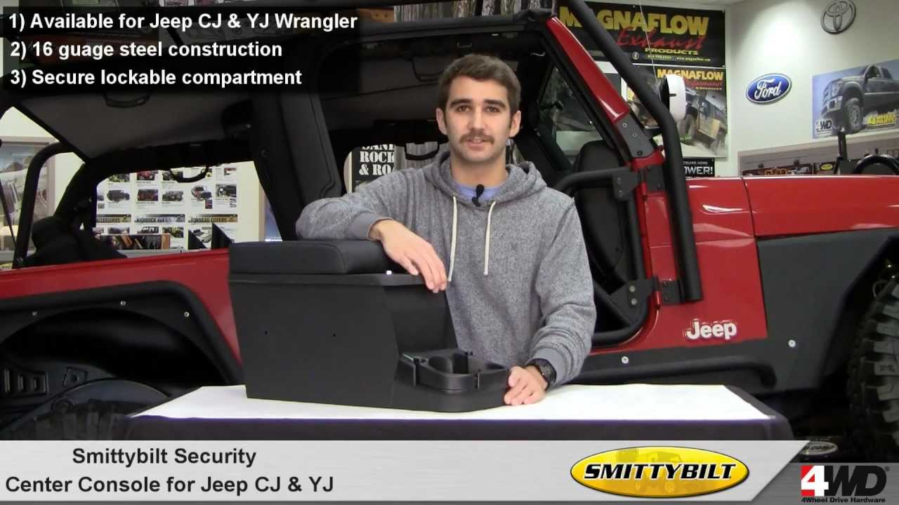 Smittybilt Security Center Console For Jeep Wrangler Youtube