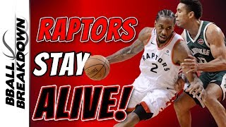 Raptors Stay Alive Vs Bucks In Game 3
