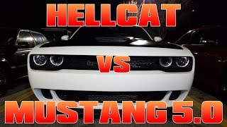 Vortech Coyote Mustang vs Dodge Hellcat STREET RACING!!