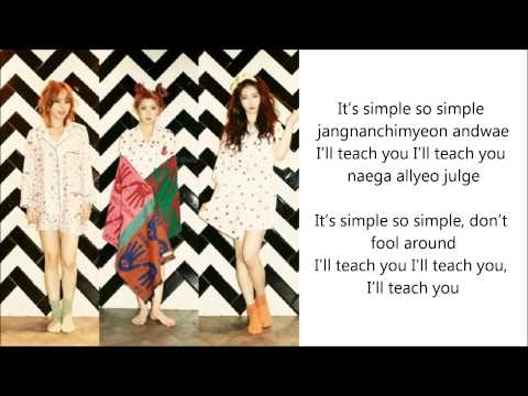 [4Minute] JiHyun, JiYoon, SoHyun - I'll Teach You (알려 줄게) English, Romanization.