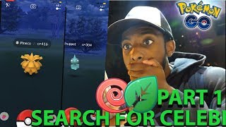 I CAUGHT SHINY PINECO!! POKEMON GO QUEST FOR CELEBI (Part 1)
