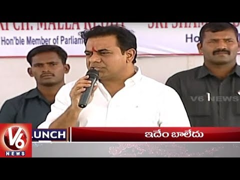 1 PM Headlines | KTR Inaugurates Interchange | May Day Celebrations | Forest Officer Died | V6 News