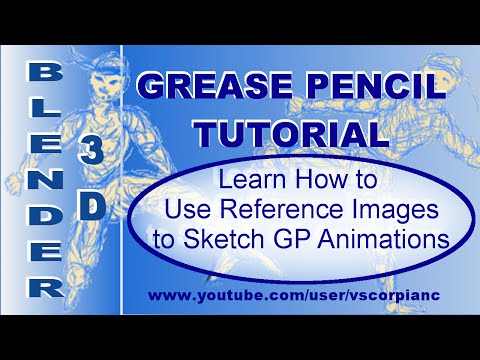 Blender 3D Tutorial - Grease Pencil, Sketching with Reference Image Planes by VscorpianC