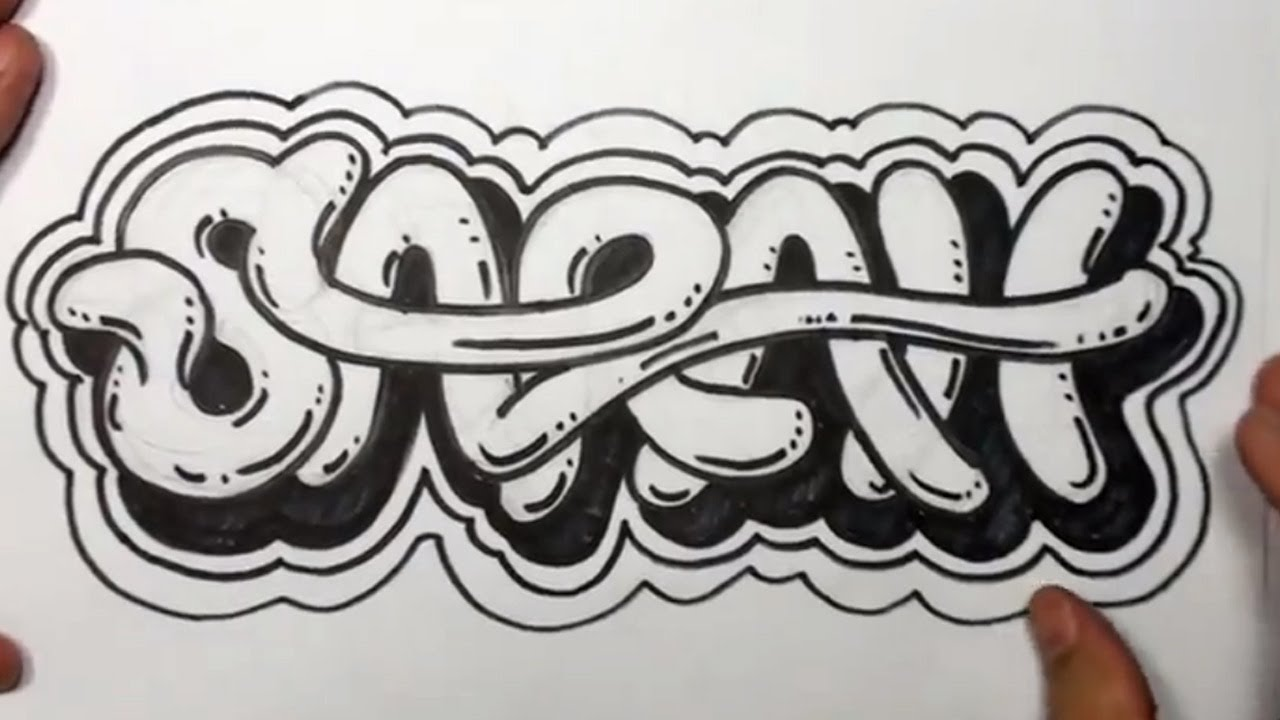 How To Write Cool Letters On Paper How To Draw Graffiti Letters Write Sarah In Cool Letters YouTube