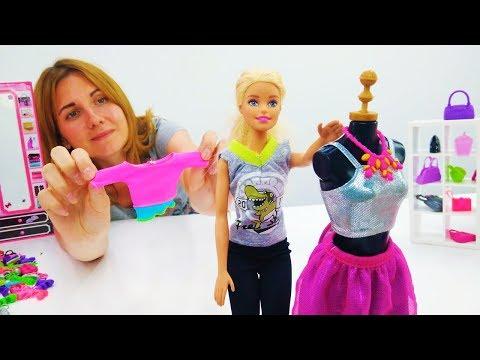 Новые наряды Барби - Игры одевалки. Видео для девочек