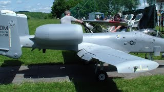 WARTHOG A-10 RC SCALE DUAL TURBINE SYSTEM MODEL JET