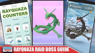 TOP RAYQUAZA COUNTERS + RAID GUIDE TO BEAT THE NOT SHINY?! DRAGON LEGENDARY   Pokemon Go