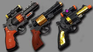 3 kind of Indian Local Toy Guns with Box of Toys – Realistic Airsoft, Musical and Colored Toy Guns