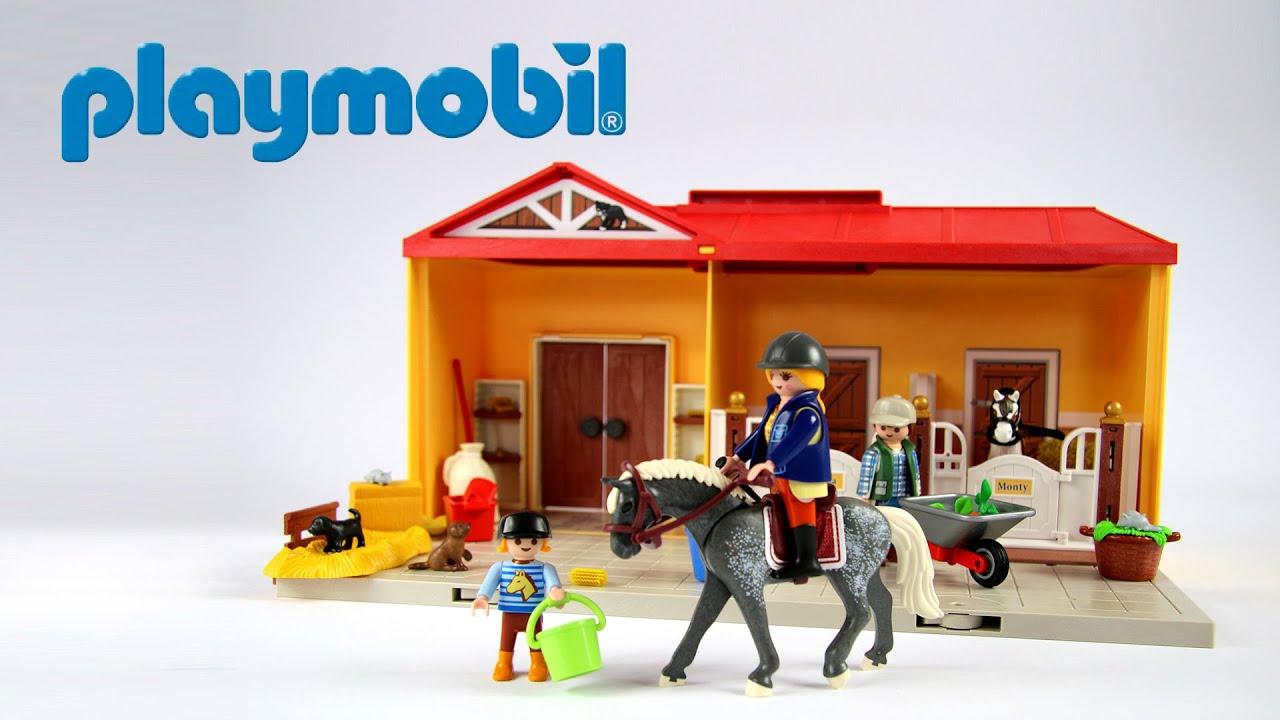 Playmobil Take Along Horse Stable Take Along Horse Farm