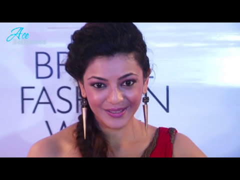 Sexy Kajal Agarwal In Red Gown At Indian Bridal Fashion Week video