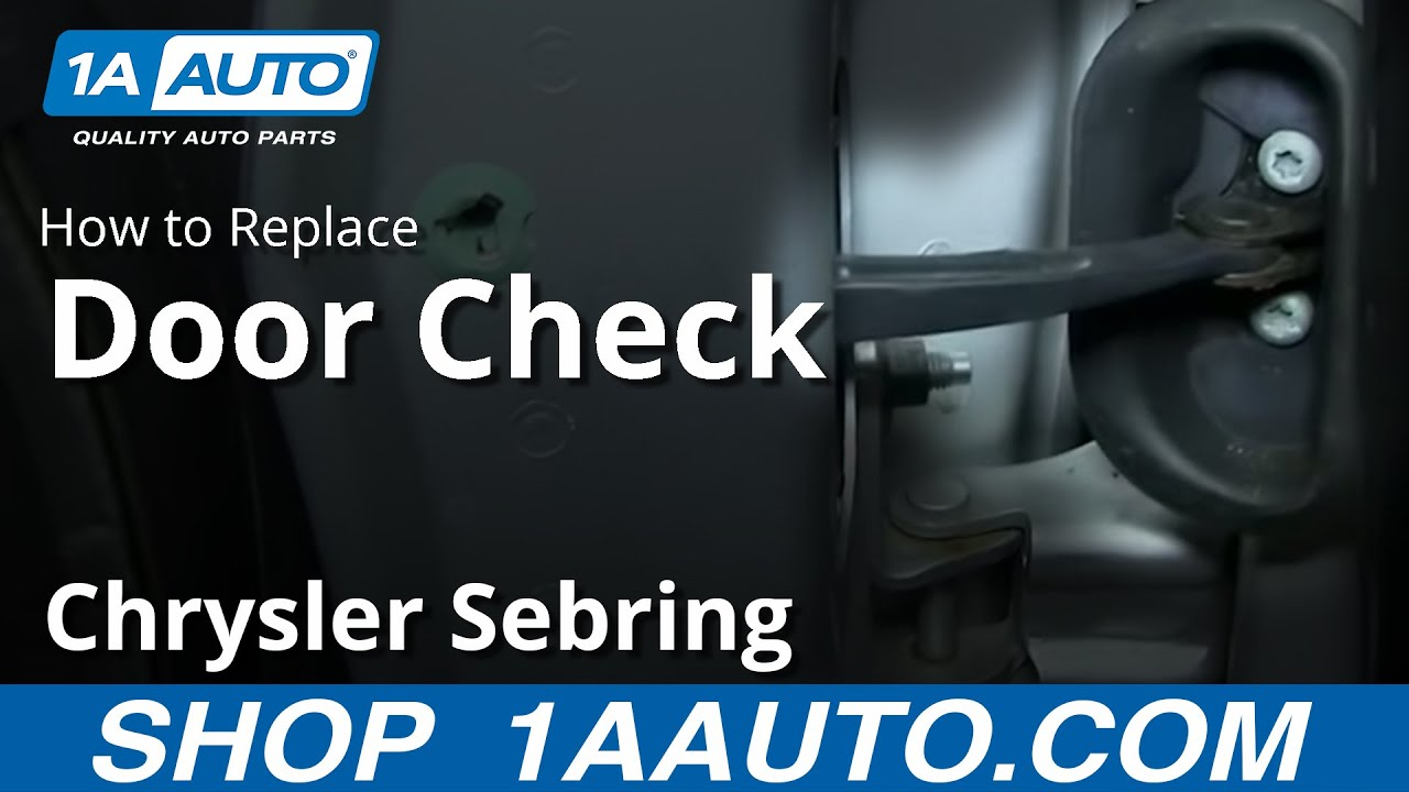 how to install replace fix door swing check stop 2001 06