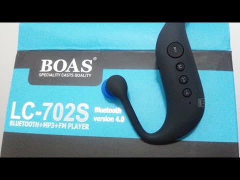 UNBOXING Headphones Fone de Ouvido Bluetooth - Marca BOAS LC-702S - MP3 + FM Player