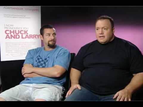 Adam Sandler and Kevin James talk Chuck And Larry - YouTube