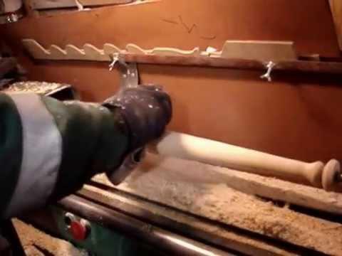 Как сделать биту на токарном станке видео - Чай-клуб
