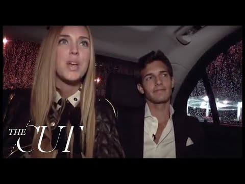 Back of the Benz: Chiara Ferragni and Riccardo Pozzoli at New York Fashion Week Spring 2013