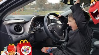 Kids Driving Parents Car to McDonalds For Happy Meal   Jai Bista Show