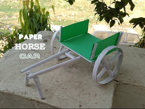 How to Make Paper Bullock Cart - Horse Cart - Easy Way - toy for kids