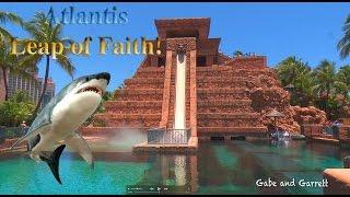 Atlantis Leap of Faith Water Slide - Gabe and Garrett Go To The Bahamas!