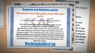 [Understanding the need for choosing good automobile spare parts] Video
