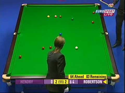 Masters 2009 Neil Robertson 147 Challenge