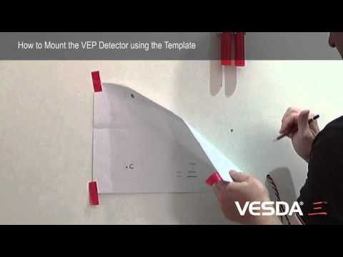 VESDA-E VEP: Mounting Detector using Template