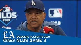 Dodgers' Dave Roberts on going against the National's Aníbal Sánchez