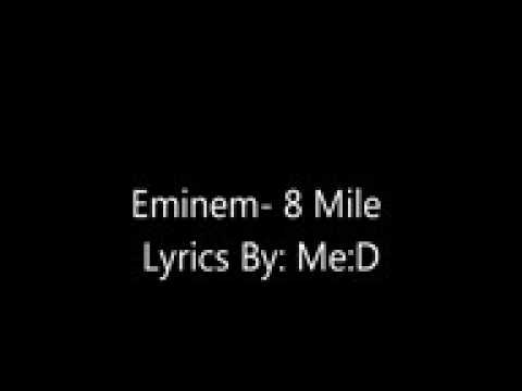 Eminem 8 Mile song lyrics