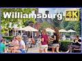 【4K】WALK Williamsburg VIRGINIA Va USA 4k video Travel vlog