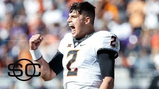 Mason Rudolph upholding Oklahoma State's 'deep ball' persona    SportsCenter   ESPN