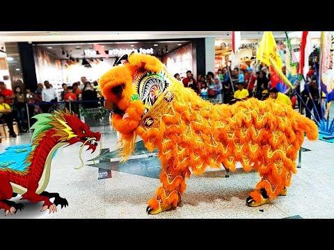 Atraksi Barongsai vs Naga Tahun Baru Imlek 2018, Gong xi fa cai