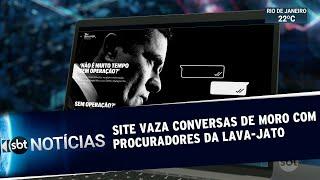 Site revela troca de mensagens entre Moro e integrantes da Lava Jato | SBT Notícias (10/06/19)