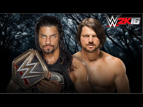 PAYBACK 2016 : WWE 2k16 Roman Reigns vs AJ Styles