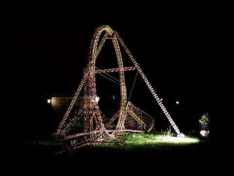 World's Largest K'nex Roller Coaster Loop (with POV)