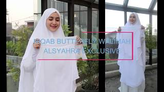 DISPLAY PRODUCT Niqab Butterfly Walimah Sifon Premium Alsyahra Exclusive