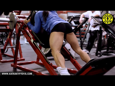 Charles Glass and Katka Kyptova - Legs workout